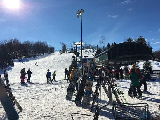 Bittersweet Ski Area - Bluebird, corn snow. Great day at Bittersweet.  - ©Mark's iPhone