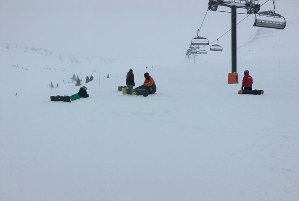 Samoëns - Lots of fresh snow at the tip but rain and slush at the base. Bad visibility  - ©amblero