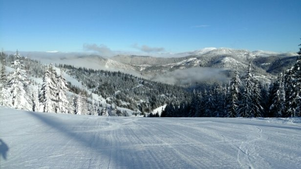 49 Degrees North - Groomed well & very fast snow.  sunny & awesome today! - ©newfpilot