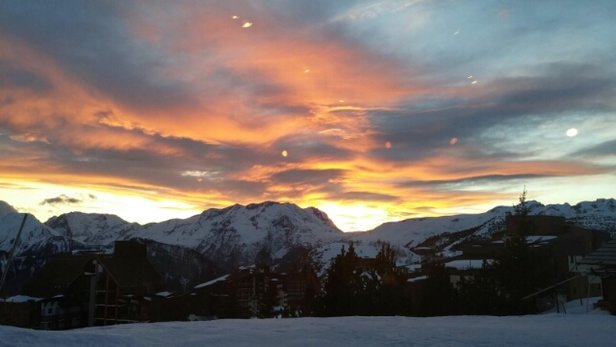 Alpe d'Huez - Today's sunset. Amazing week. - ©eli.bukstein