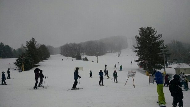 Liberty - lots of powder, turned slushy around 3pm when the crowds showed up. - ©vtbare