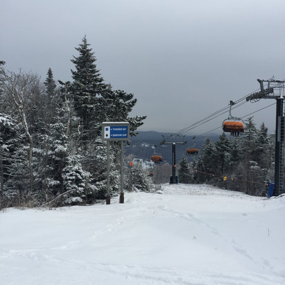 Okemo Mountain Resort - Great conditions today.  Okemo has done wonders with the limited snowfall this season. - ©iPhone