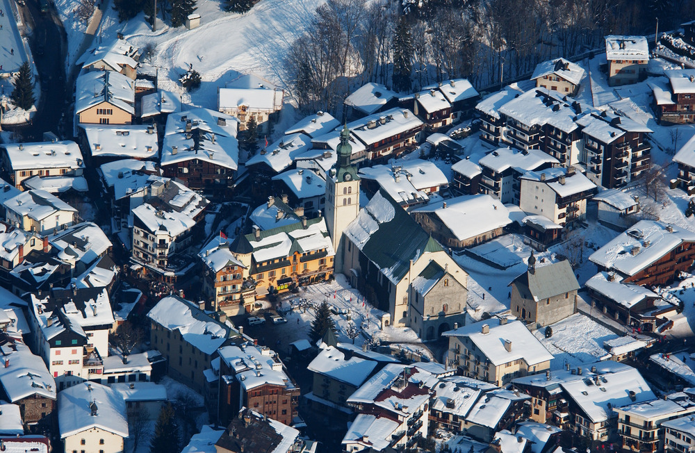 Village of Megeve in snow