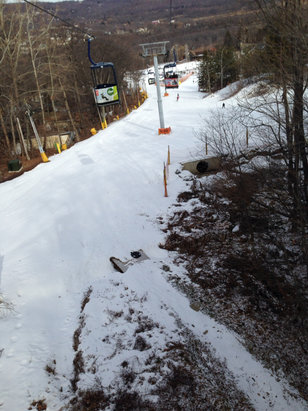 Mountain Creek Resort - Open 100% trails well groomed PP . Getting crowded - ©iPhone