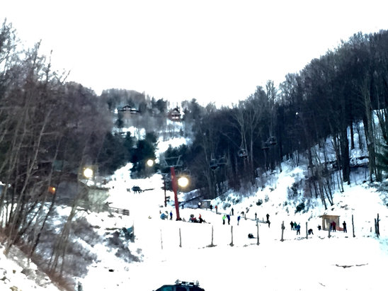 Wolf Ridge Ski Resort - A look at the Wolf this Sunday from the top parking deck.  16