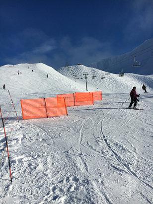 Alyeska Resort - Bluebird day today. Snow was great up top.  Ice on the bottom.   - ©JAMES GLENN's iPhone