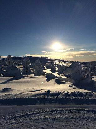 Levi - Blue sky arctic skiing in Levi 16th Feb 2016 - ©robert.harris's iPhone