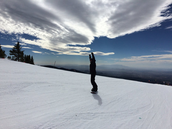 Ski Santa Fe - Groomed runs are nice and not icy. Great for carving. Great base and a great day.  - ©mr moot