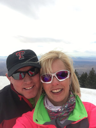 Ski Apache - Valentine's Day with my hubby at the top.  The snow was great. Skied the blacks up top. They were great. Best snow at Ski Apache in years.    - ©HEATHER REED