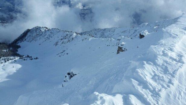 Kicking Horse - stairway to heaven was the only fresh-ish snow around. still made for a beautiful bluebird day !! - ©danstewart42