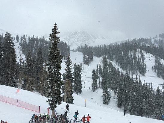 Snowbird - Amazing snow - visibility optional.  - ©David's iPhone