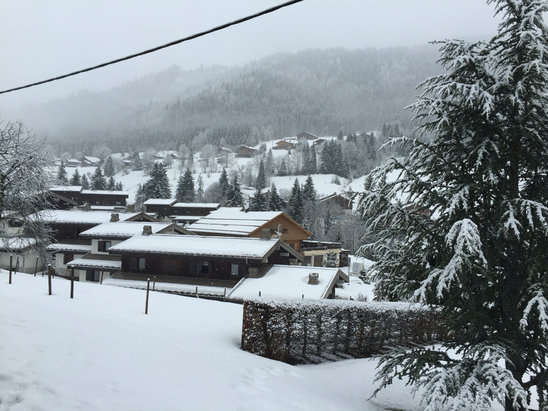 La Clusaz - Our view from our chalet , but cloudy but fingers crossed for clearer skies tomorrow   - ©Kerry Timmins