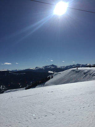 Vail - Blue blue ski days.  Back bowls soft in afternoon.   Very skiable.    - ©Rsp iphone