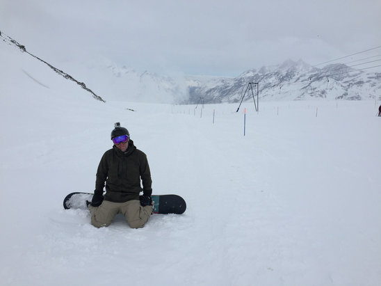 Zermatt - Snow cover was good. Visibility was tough all day. No lines. Great runs.  - ©iPhone