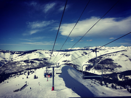 Vail - Blue Sky Basin was excel the for not ha being any recent powder.  - ©Neal's iPhone
