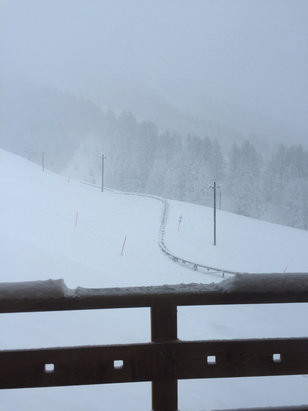 Val d'Allos - La Foux - Heavy Snowfall  - ©Skunk's iPhone