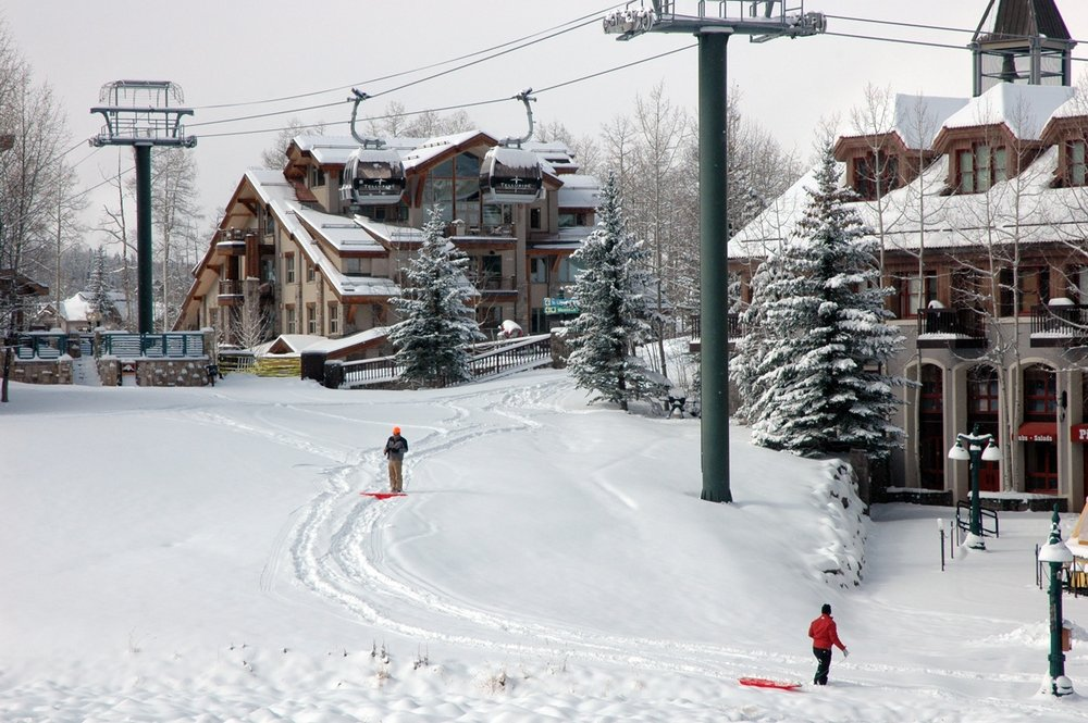 Snow at Telluride, CO 10/28/2009.