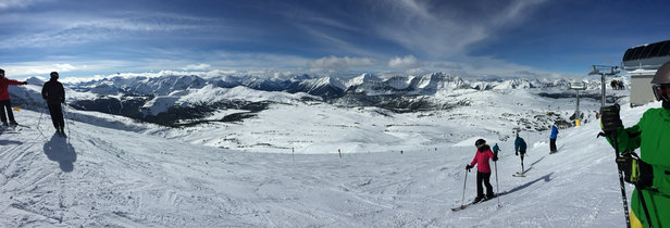 Sunshine Village - Great day, clear skies, no waits!  - ©Glen's iPhone