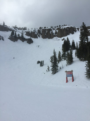 Jackson Hole - Not sure where the previous poster was at. Conditions up top were great. Sure bottom was slushy but plenty of great skiing above.  - ©iPhone