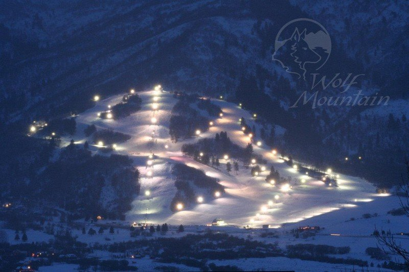 Wolf Creek Utah at night.