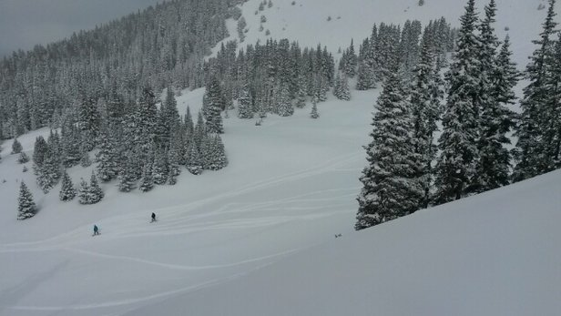 Keystone - Fresh powder into afternoon today#! Deep in south bowl - ©mrhills7