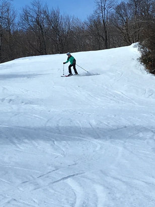Okemo Mountain Resort - Some trails had great coverage. Others not so good. First time at Okemo. Great mountain, just a horrible weather year. Best lifts I've ever been on. Friendly staff.   - ©Rob White's iPhone