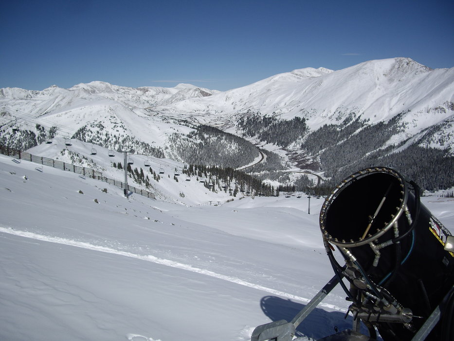 Snowmaking at A-basin 2009.