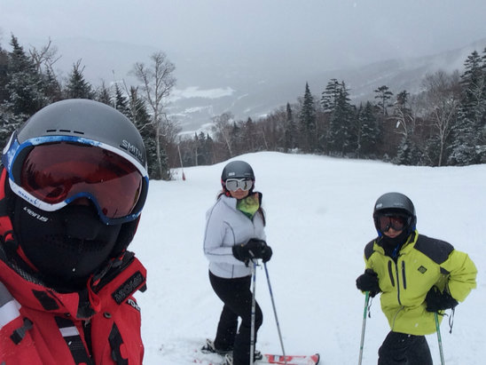 Stowe Mountain Resort - Plenty of new snow but lower mountain conditions hard packed, upper mountain very foggy, above average conditions over last few days  - ©iPhone