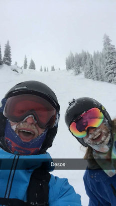 Steamboat - Deep powder and perfect turns today  - ©David's iPhone