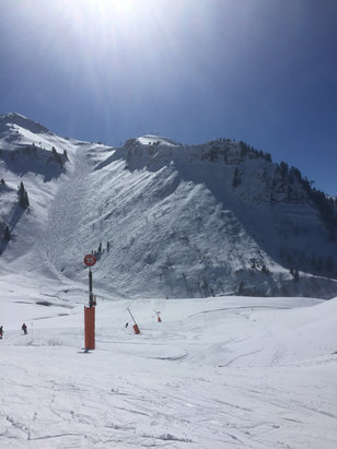 Morzine - Bluebird Spring warm day good piste conditions still. - ©Stuart's iPhone
