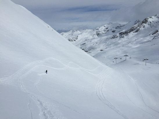 Val Thorens - 15cm fresh powder in the bowl near Portette  - ©Matthew's iPhone