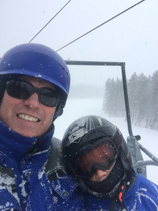 Breckenridge - Great day on peak 7 & 8.  Light to heavy snowfall throughout the day.  Fluffy pow pow  - ©John Canaday's iPhone (2