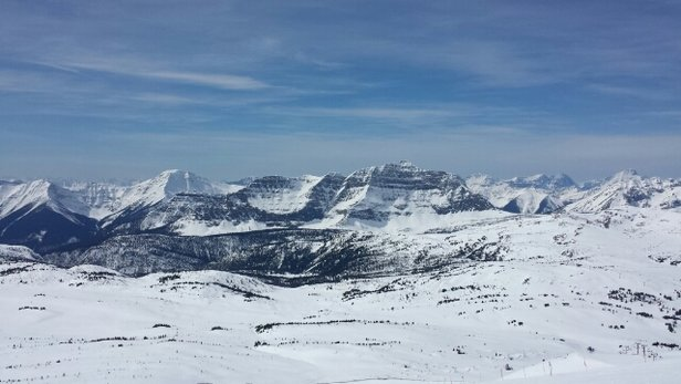 Sunshine Village - icy hard in the morning. .hero snow in the afternoon.   awesome day!! - ©noble2079