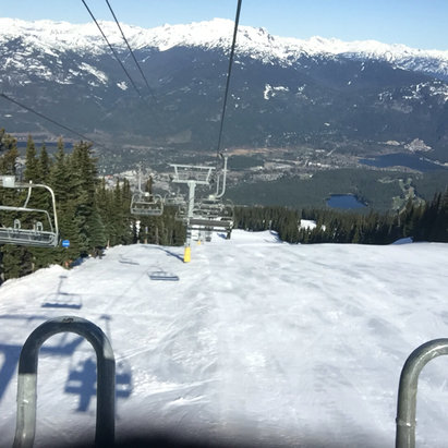 Whistler/Blackcomb - Perfect weather for spring skiing. Runs are icy early but softer by late a.m. Skied Blackcomb Glacier at 2:00 yesterday and it was great. Here are photos of groomed Solar Coaster and the Glacier. - ©sdiddams