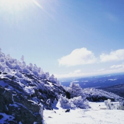 Jay Peak - last Sunday was new snow blown to the right side of the mountain, making it a great day - ©adrenalinecarfox