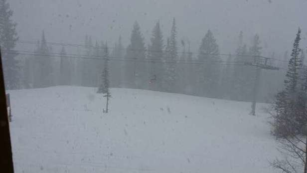 Snowbird - still snowing storm day thunder  limited visibility.  Free refills  - ©911pools