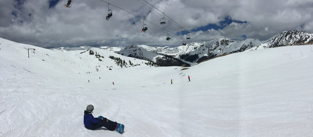 Arapahoe Basin Ski Area - Great spring conditions! Caught a tan too!!! - ©Gary Price's iPhone