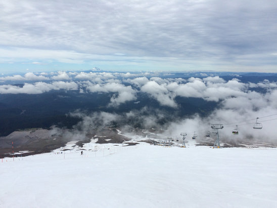 Timberline Lodge - Great morning (July 7) - ©Nick's iPhone