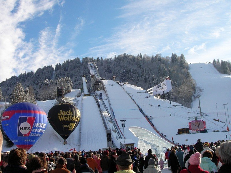 New Year's ski jump at Garmisch, Germany.