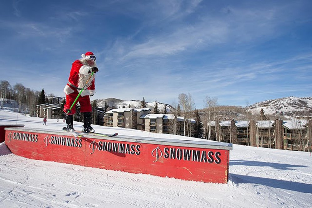 Santa at Aspen Snowmass, CO on Christmas Eve.