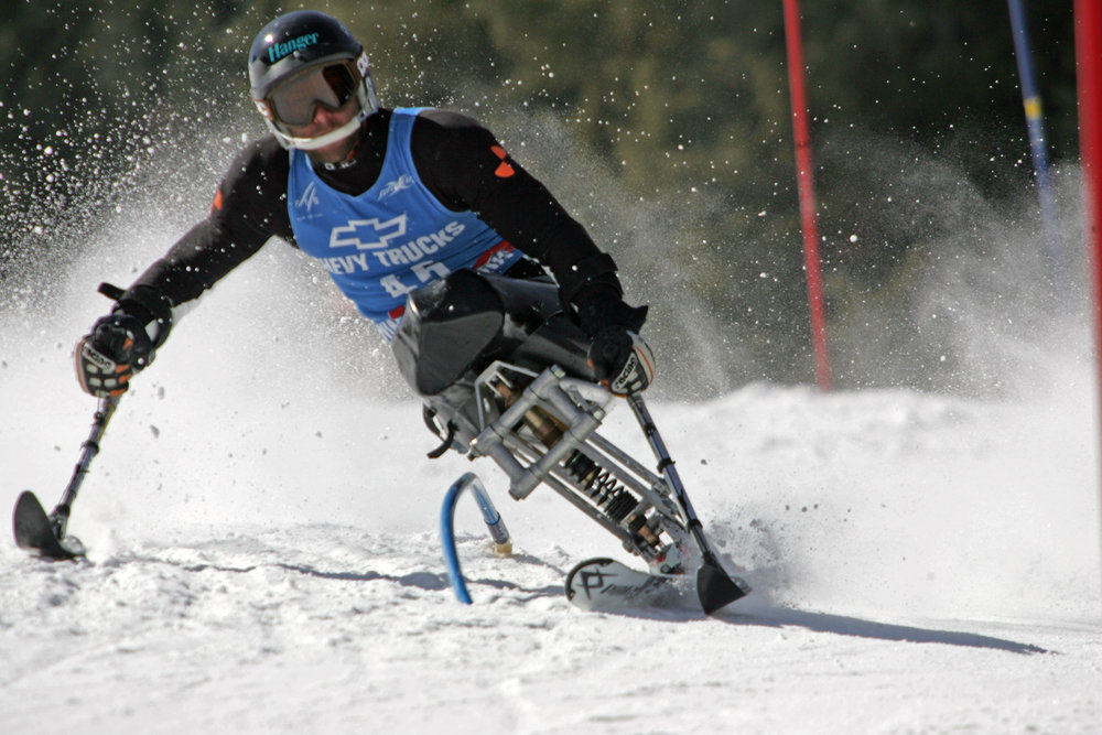 Competitor at Aspen CO Adaptive Ski World Cup