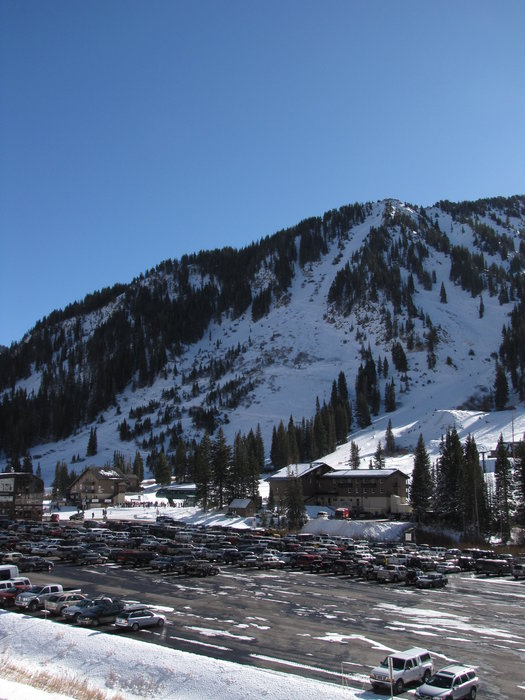 The parking lot at Alta UT