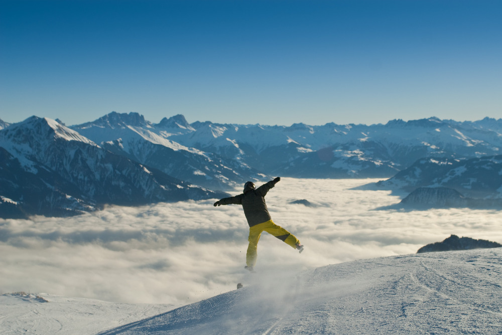 Experience total freedom on the slopes. - ©Pizol Tourism