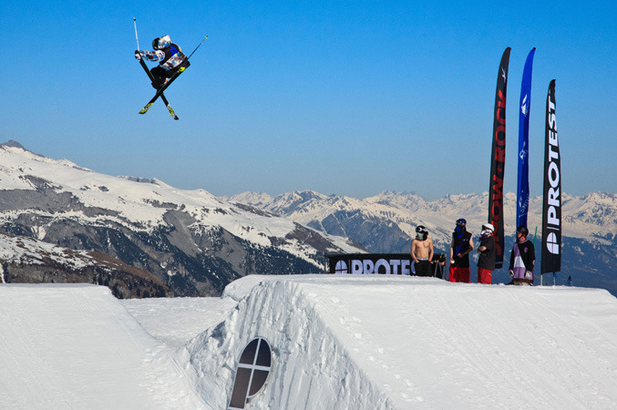 Freeskier at the BRITS in Laax 2012