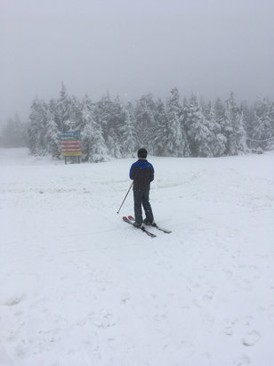 Stratton Mountain - Winter wonderland at summit with great conditions on top 2/3rd. Limited trails open so lots of traffic but no lift lines.   - ©Brianski