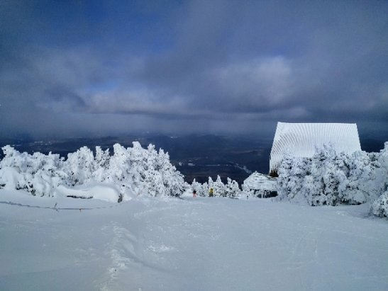 Cannon Mountain - The conditions were awesome with all powder/packed powder all over the mountain. Cannon new guns are delivering perfect snow conditions. - ©LeMans Ventre