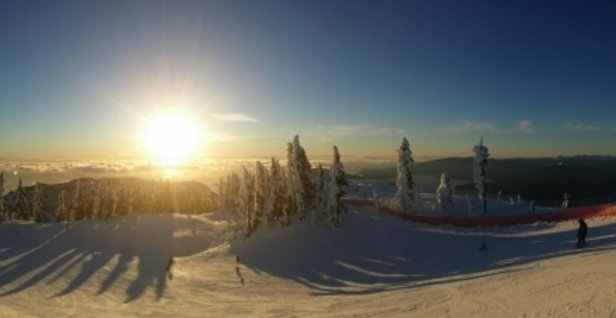Cypress Mountain - It was my first day out this season and it hasn't snowed in a few days. The cold Temps have kept a decent amount of soft powder on the top layer and hard packed underneath. Not bad - ©astrospud3