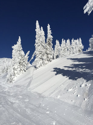 Grand Targhee Resort - Absolutely fabulous! Bluebird, snow so soft it was silent under your skis. Plenty of powder. No lift lines. Cold, but no wind. - ©MarkH