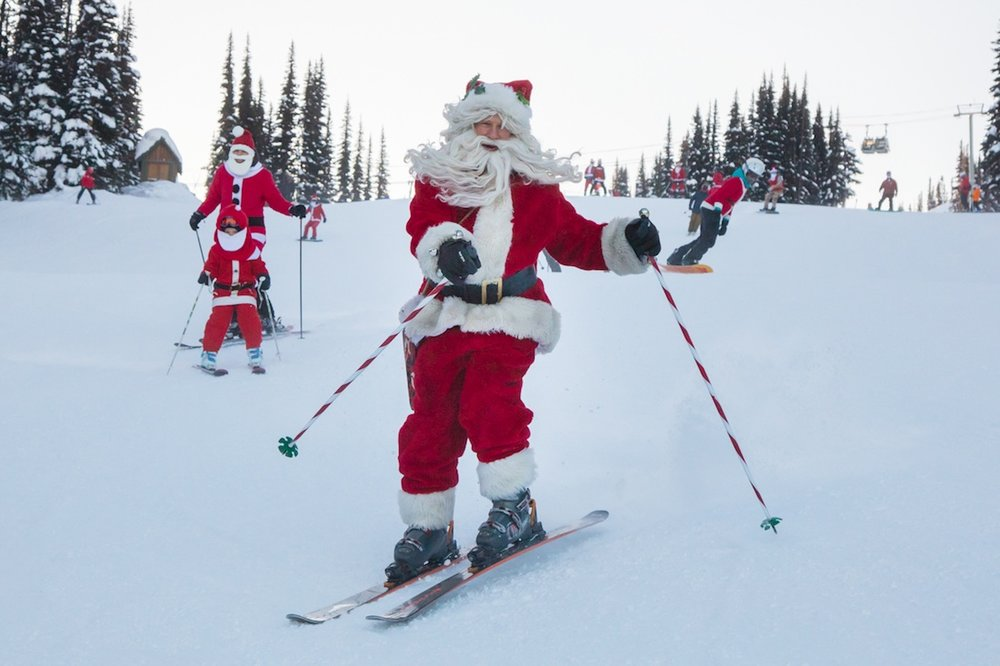 No reindeer required at Whistler Blackcomb's annual Dress Like Santa Day. - ©Mitch Winton / Coast Mountain Photography
