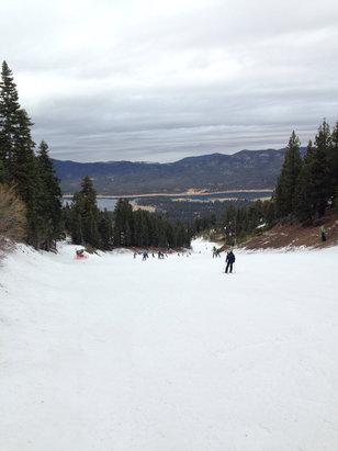 Snow Summit - don't let the minimal rain keep you away still a blast  - ©iPhone